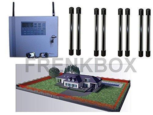 Alarma antirrobo INALÁMBRICO GSM 433Mhz con barrera perímetro protección contra intrusiones