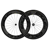 Eagle Lightweight Carbon Fiber Clincher Wheelset in Black for Cycling - Eagle 280 Hubs - Free Conti Tires (Eagle 280 Premium HUB, 1st Ed. Eagle 65/90 Carbon Clincher WHEELSET)