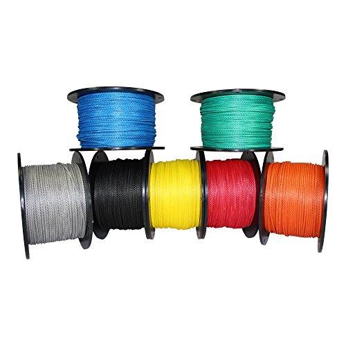 SGT KNOTS Dyneema Rope - Hollow Braid Rope 1/8 inch (3mm) - Lightweight 12 Strand Dyneema Cord - for Whoopie Slings, Hammocks, Arborists, Boating, Camping, DIY (1/8 inch x 100 feet, Orange)