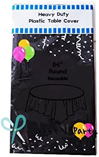 Best round black plastic table covers Reviews