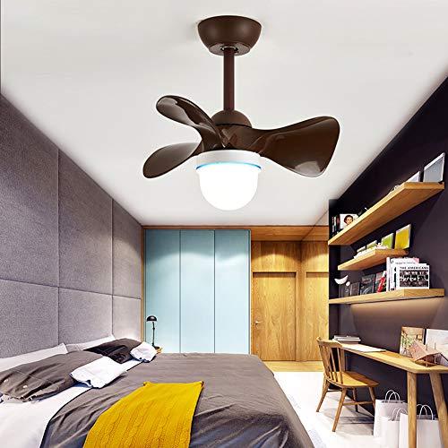 CGXYZ Ventilador de Techo con Mando a Distancia y luz, 3 Palas, 55 cm de diámetro, Potencia de 36 W y 6 velocidades, Marrón