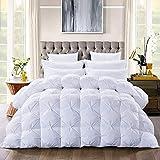 Luxurious Goose Down Comforter Queen Size Duvet Insert, Pinch Pleat Design, 55oz...
