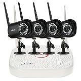 KKmoon Videoüberwachung System Netzwerk Video Recorder + 4 stücke HD 1080 P WiFi IP Kamera Unterstützung Onvif IR Nachtsicht Telefonsteuerung Bewegungserkennung für CCTV Sicherheitssystem