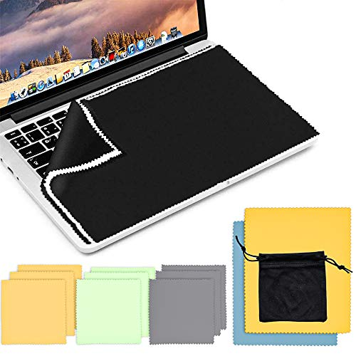 LandJoy Mikrofasertücher,14*Mikrofaser Display Schutztuch,Brillenputztücher für Kamera-Displays & Objektive, Brillen, Ferngläser, Macbooks, iPhones, iPads & Co(1*Aufbewahrungsbeutel)