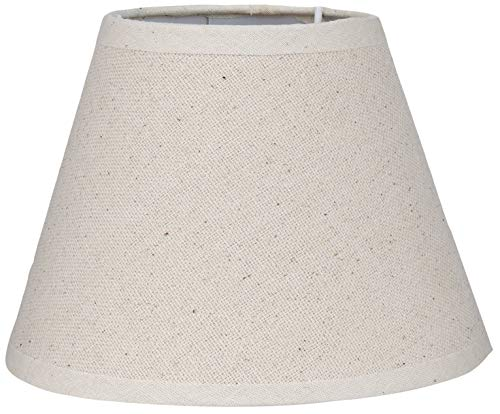 BETTER & BEST Q B&B Q BETTER & BEST 16 Crema Retor Pantalla de lámpara de Lino, Redonda, de 16 cm, Color