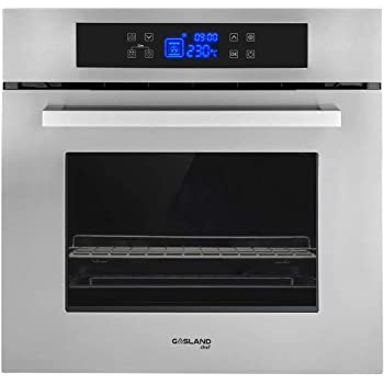 Ft 9-Functions COSTWAY 24 Built-In Single Wall Oven Electric 2.5 Cu Capacity Tempered Glass Multi-Function European Convection Oven with Push Buttons Control