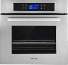 """Single Wall Oven, GASLAND Chef ES611TS 24"""" Built-in Electric Ovens, 240V 3200W 2.3Cu.f 11 Cooking Functions Convection Wal..."""