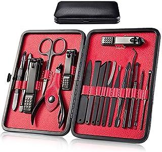 Manicura Set - 18 en 1 Manicura y Pedicura Profesional Herramientas de Cortauñas Manicura Uñas Clipper Kit de Viaje Ear Pi...