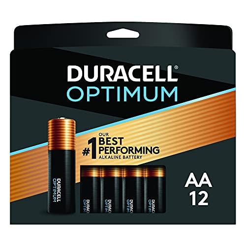 Duracell Optimum AA Batterien | 12 Stück | Langlebige Power Doppel-A Batterie | Alkaline AA Batterie ideal für Haushalt und Büro Geräte | wiederverschließbare Verpackung zur Aufbewahrung