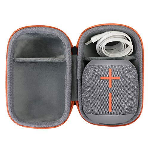 co2CREA Duro Viaje Estuche Bolso Funda para Ultimate Ears WONDERBOOM 2 Altavoz Bluetooth Impermeable(Speaker Case) (Gris)