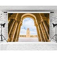 HDOkbarグランドモスク写真の背景7x5ftソフトコットンポートレート写真撮影小道具WQFS122