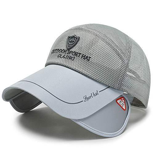 wtnhz Modeartikel - Hut-Sonnenschutz-Baseballkappe mit ausziehbarem Visier, Augenschutzhut für den Außenbereich, Mullkappe