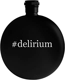 #delirium - 5oz Hashtag Round Alcohol Drinking Flask, Black
