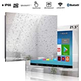 Haocrown Touch Screen 21.5 inch Bathroom Smart Mirror TV Android 9.0 System IP66 Waterproof Shower Television with Built-in Wi-Fi