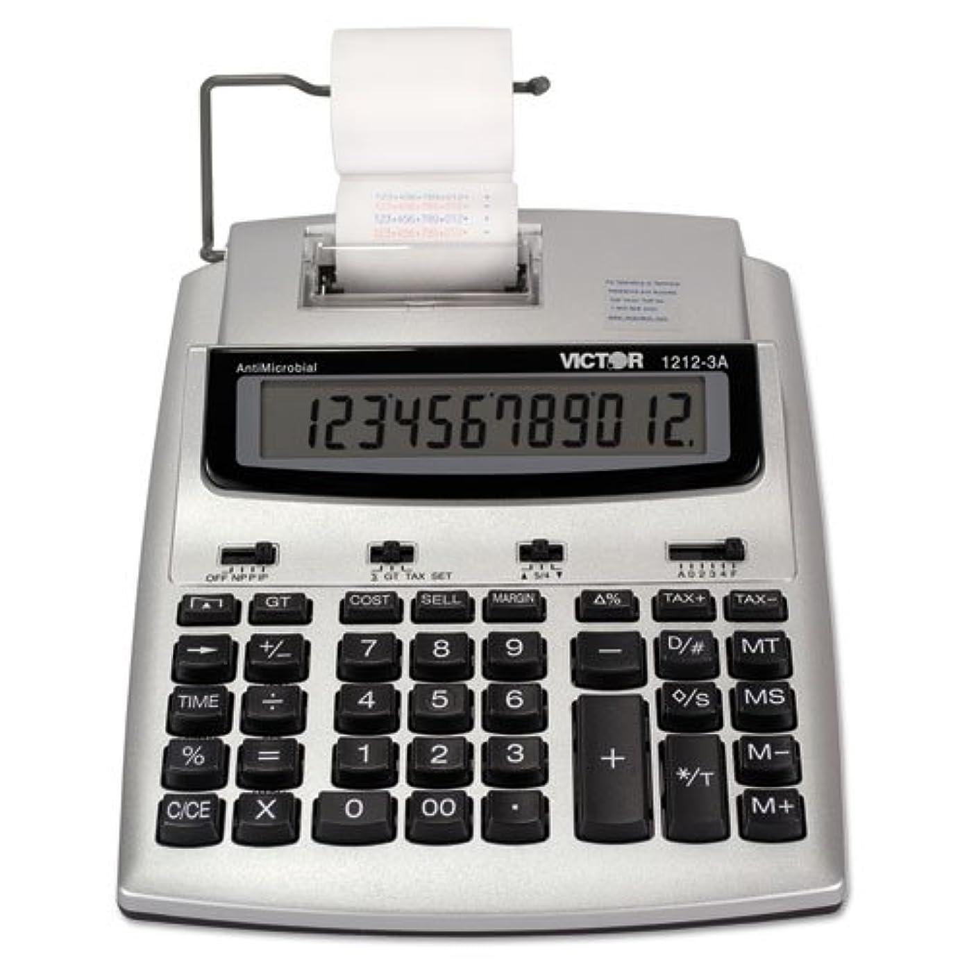 ほこりっぽいトライアスロンアクセス12桁電卓、2色印刷、7?–?1?/ 4?
