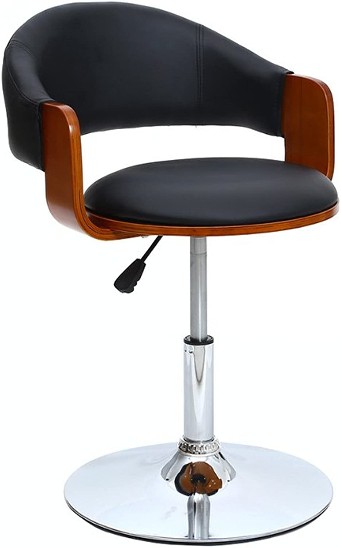 Bar Stool, Bar Iron High Stool redate Cafe Counter High Back Woody Creative Retro Tall Front Desk Kitchen Chair European High 5070cm 360 Degree (Size   5070cm)