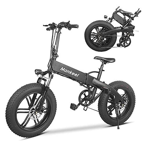 Mankeel Bicicletas eléctricas de 500 W, bicicletas eléctricas superpotentes, se pueden utilizar en montaña, nieve, arena, plegadas en el maletero.