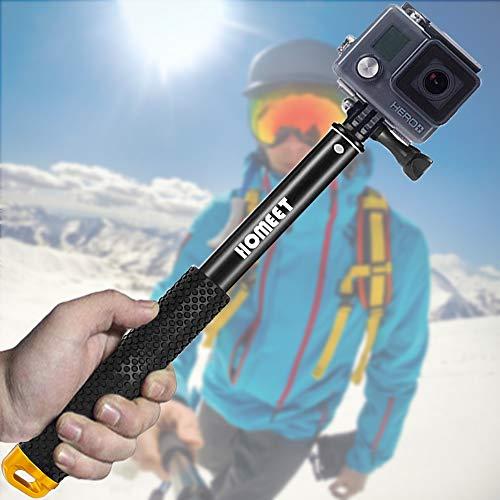 GoPro Bastone Selfie, Homeet Monopiede Alluminio Selfie Stick Impermeabile TelescopicoPole Retrattile per GoPro Hero 5/4/3+/3/2/Session, SJCAM/SONY HDR FDR/Garmin Virb XE/Xiaomi Yi 4K/DBPOWER/QUMOX /Akaso/Apeman/TECTECTEC