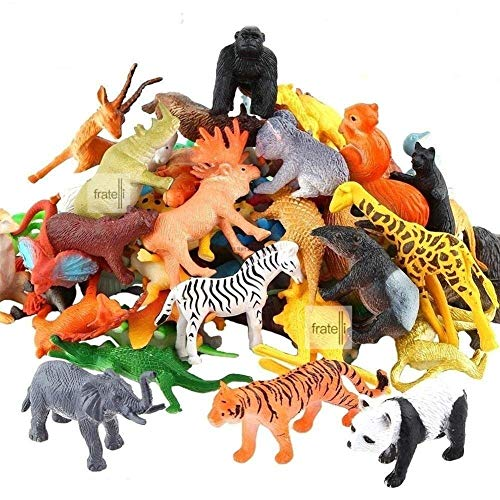 FRATELLI TOY-STATION - Exclusive Animal Play Sets (Animal Kingdom -Animal PLAYSET Learning Games for Boys Girls Kids Toddlers - 20 PC Set)