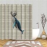 Underwater World Fish, Turtle 3D Shower Curtains Fabric Waterproof Polyester Bath Curtain Bathroom Decor Screen Set