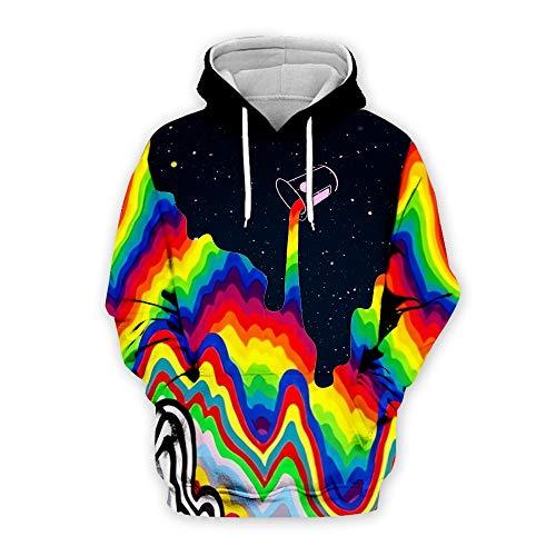 Aoogo Männer Regenbogen Farbe Hoodies 3D Hoodies Plaid Print Lustige Kapuzen Sweatshirts Männer Casual Coole 3D Hoody Herbst Outwear