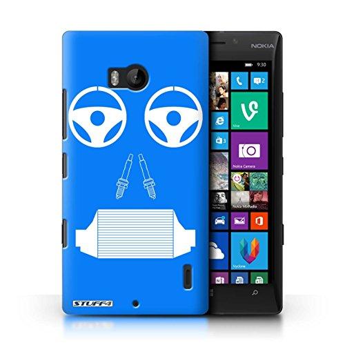 Beschermhoes Stuff4 / Beschermhoes voor Nokia Lumia Icon/Radiator/Blauw Design/Gezicht