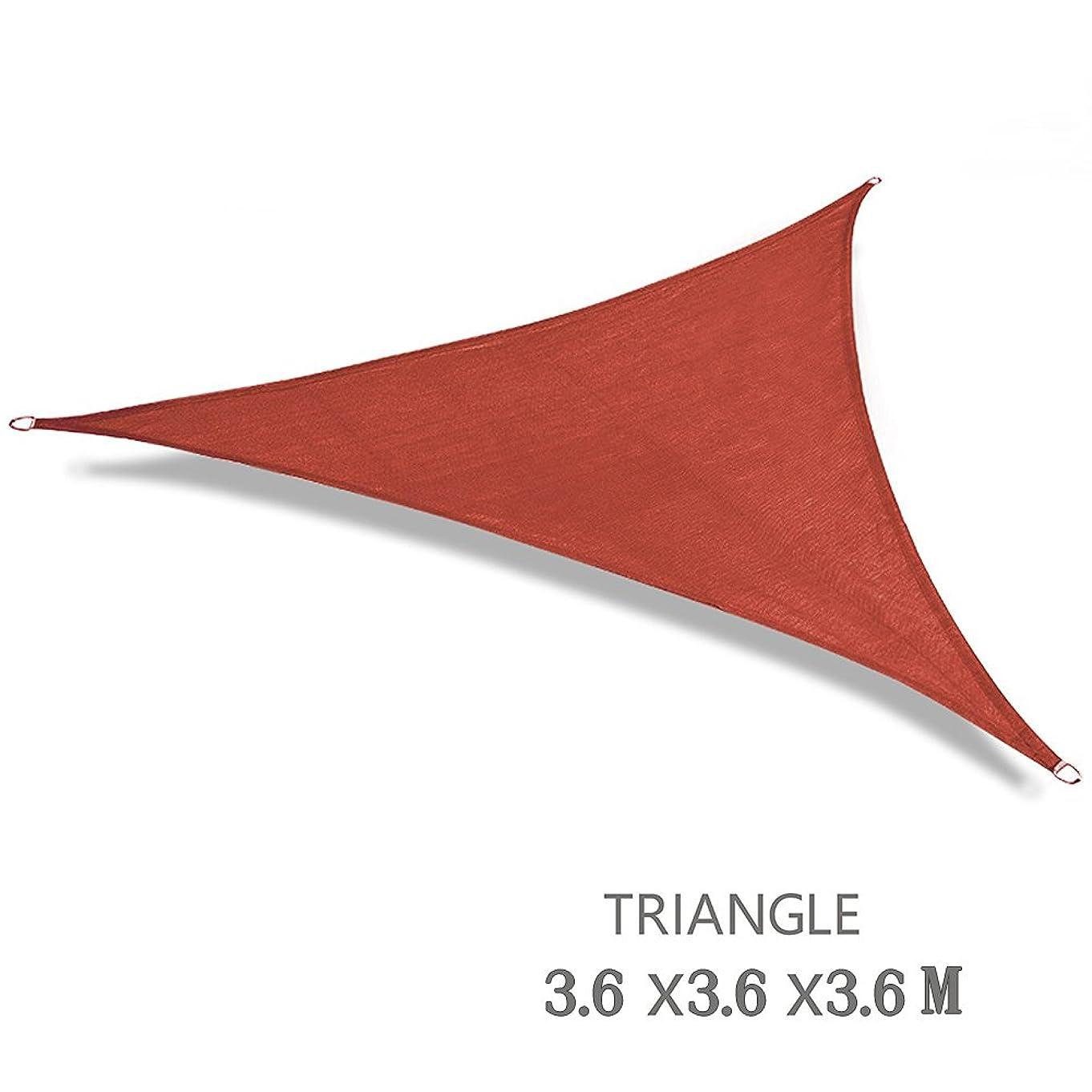 指令チューリップ軽くSUSUQI 涼風シェード シェード 日除け オーニング 紫外線98% カット UVカット セイル つっぱり式 サンシェード 撥水 目隠し 雨よけ 庭·テラス·バルコニー用 size 12*12*12ft-Triangle (Red)