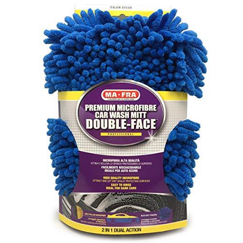 Mafra, Guanto Double Face Professionale in Microfibra, Rimuove Ogni Tipo di Sporco, in Poche Passate e Senza Graffiare