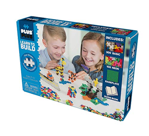 Plus-Plus 9605008 Geniales Konstruktionsspielzeug, Learn to Build Basic, Bausteine-Set, 600 Teile
