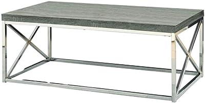 Amazon Com Monarch Specialties I 3028 Cocktail Table Chrome Metal