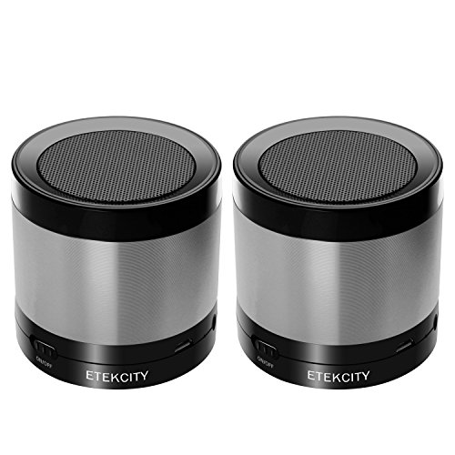Etekcity RoverBeats T16 Ultra Portable Wireless Bluetooth Speaker, Enhanced Bass (Gray 2pack)