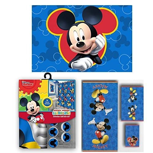 Mickey Mouse Bathroom Decor Amazon Com