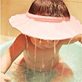Chianrliu Einstellbar Shampoo Bade Bad SchüTzen Weiche Kappe Hut für Baby (Pink)