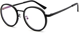 563ab6ee9b10 Unisex Retro Glasses Metal Round Eyeglasses Frame no Degree Eyeglasses for  Reading Computer Shopping Cycling