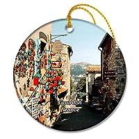 グルドンフランス中世の要塞クリスマスオーナメントセラミックシート旅行お土産ギフト
