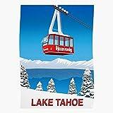 Snow Ski Trees Mountains Heavenly Lake Tahoe Geschenk für