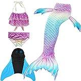 SPEEDEVE Coda di Sirena per Bambina con Bikini,G2,130