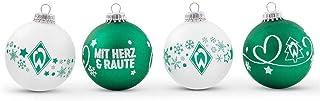 Werder Bremen Weihnachtskugeln, Christbaumschmuck 4er-Set 21-83025