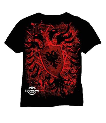 Zoonamo T-Shirt Albanien Classic, Farbe:schwarz, Größe:S