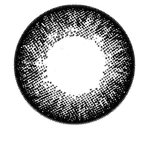 Matlens – GEOLICA Farbige Kontaktlinsen ohne Stärke schwarz black GEO Royal Princess Mimi Big eyes XKP-100 circle lens 2 Linsen 1 Kontaktlinsenbehälter 1 Pflegemittel 50ml