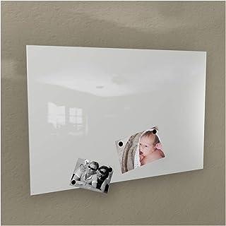 Pizarra magnéticade Colours-Manufaktur, color blanco, RAL 9003, brillante, distintos tamaños –40x 60cm; 50x 80cm; 60...
