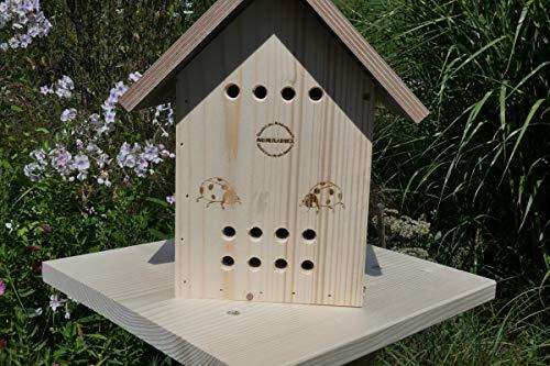 Qualität aus Niederbayern ARBRIKADREX Marienkäferhotel insektenhaus Marienkäferhaus Nistkasten Garten Deko
