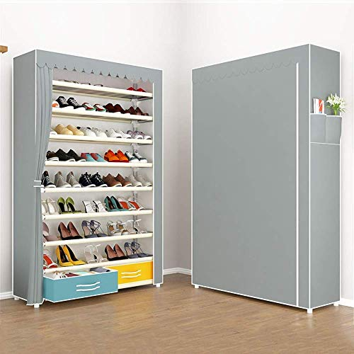 Decoración de muebles Caja de zapatos plegable Caja de zapatos Caja de zapatería Caja con cajones Simple zapato Rack Polvo Aparato Multi-capa Montaje de zapatos Rack Moderno Zapato Gabinete de almacen