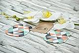 Aufnäher aus Bio-Baumwolle, 6 Stück, Flicken, ca. 7,5 x 9 cm, Applikation, Knieflicken, Patch zum Aufbügeln, Baby, Kind, Mädchen, Junge, grau weiß schwarz braun türkis orange, Dreiecke