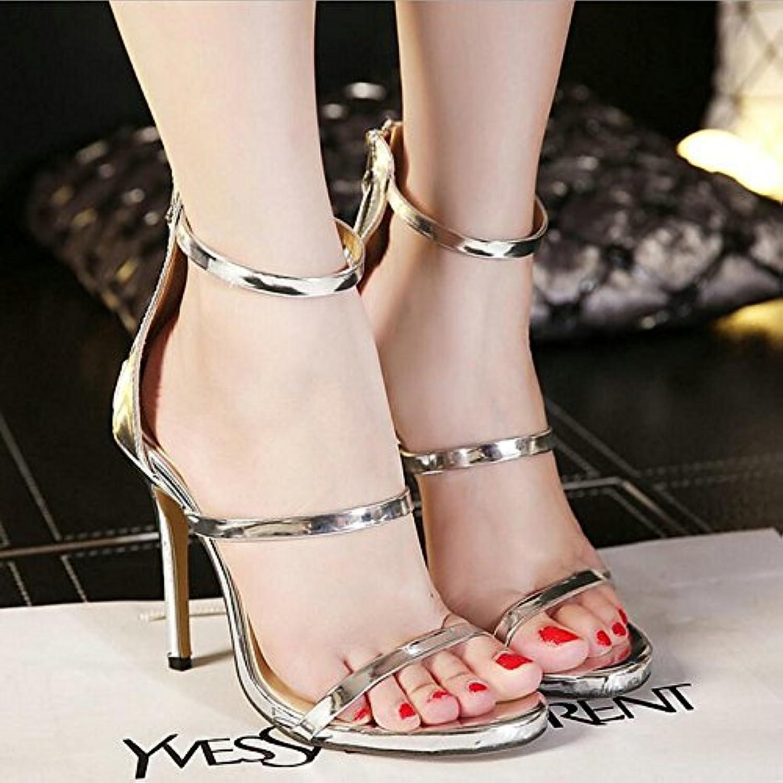Kvinnors skor PU Springaa, Springaa, Springaa, sommar Ankle Strap, Two -Piece Sandals Stiletto Heel Open Toe Buckle för kontor, karriär  födelsedag    Fri frakt på alla beställningar