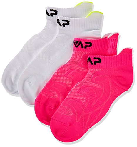 CMP Niños Calcetines Calcetines, Otoño-invierno, infantil, color Bianco-Pink Fluo, tamaño 34/36