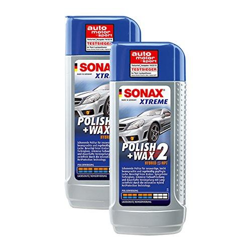 SONAX 2X 02071000 Xtreme Polish+Wax 2 Hybrid NPT Politur Wachs 250ml