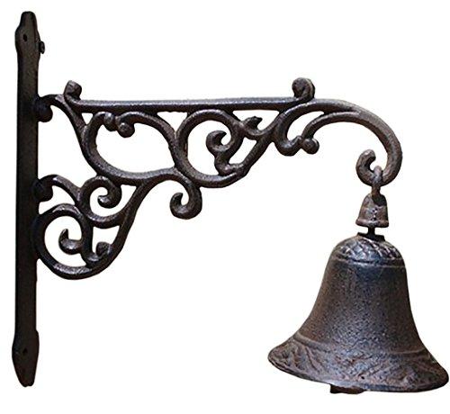 Sport Tent-Vintage Glocke Türglocke Wandglocke Gusseisen Antik rustikal Gartenglocke für Türklingeln Gartendeko (21 * 11 * 22cm)
