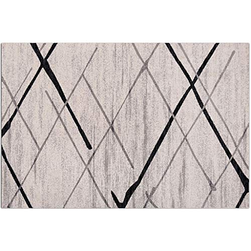 JSY Grijze reeks woonkamer slaapkamer nachtkastje tapijt theetafel mat Tapijtpads (Color : B, Size : 80cm*150cm)