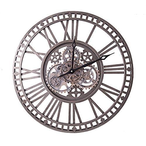 Kyman Vintage Industrie Wind Wanduhr Eisen Zahnraduhr Wohnzimmer Europäische Persönlichkeit Dekoration Kreative Wanduhr